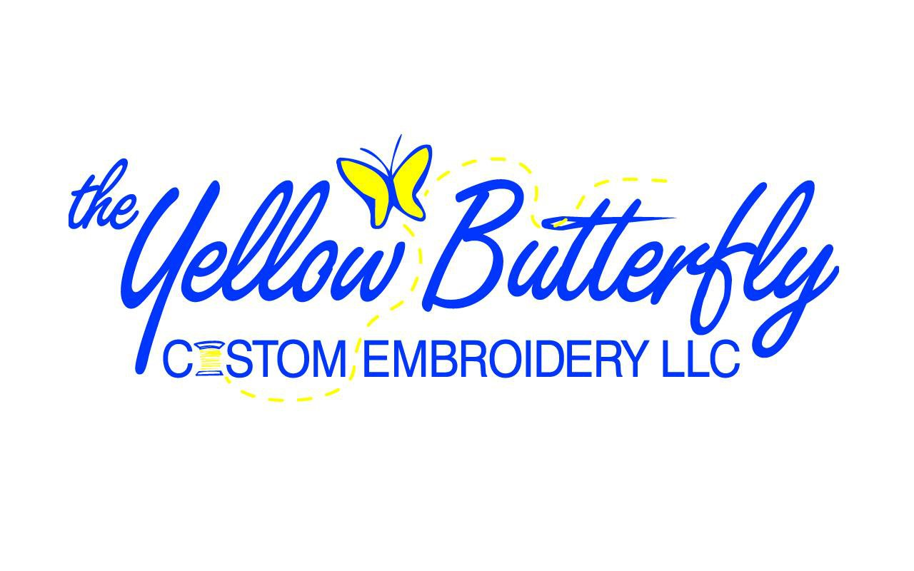 Yellow Butterfly Custom Embroidery